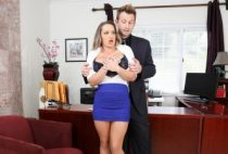 Pervy Boss Blackmails Slutty Secretary