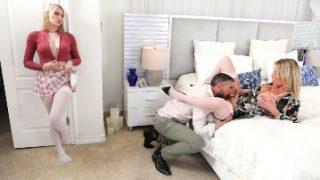 Melody Marks Seduces Busty Next-Door Neighbor Rachael Cavalli with Stepdad