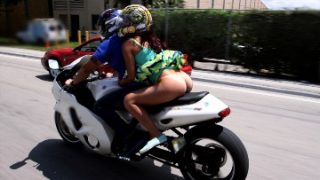 Riding naked on motorcycles